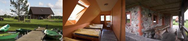Viesu nams Kurzemē pie Zvirgzdu ezera