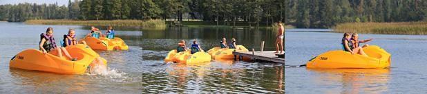 Ūdens velosipēda noma Zvirgzdu ezerā