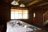 Jaunais viesu nams Ezermaļi Kurzemē. Brokastu galds