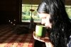 Baudot zāļu tējas pirts rituāla laikā