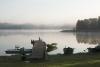 Vasaras atpūta. Laivu piestātne Zvirgzdu ezerā