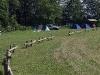 Telšu vietas Kurzemē pie Zvirgzdu ezera karstā vasaras dienā