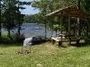Telšu vietas pie Zvirgzdu ezera Kurzemē karstā vasaras dienā