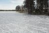 Ziema pie Zvirgzdu ezera Kurzemē