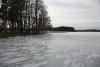 Zvirgzdu ezers Kurzemē ziemā