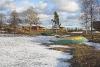 Atpūtas vieta Ezermaļi ziemā. Zvirgzdu ezers Kurzemē