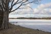Atpūtas vieta Ezermaļi. Zvirgzdu ezers ziemā
