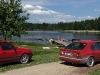 Zvirgzdu ezers Kurzemē. Karsta vasaras diena
