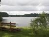Zvirgzdu ezers mākoņainā dienā