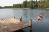 Peldēšanās Zvirgzdu ezerā